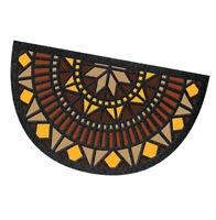 Zerbino ingresso mosaico mezzaluna 40x70 cm antiscivolo tappeto asciugapasso
