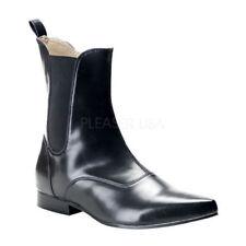 Stivali, anfibi e scarponcini da uomo nere in pelle sintetica con cerniera