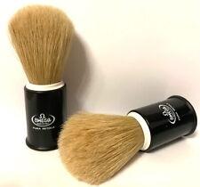 Shaving Brush Black White Pig Bristles Pure Brushes Natural Bristles Omega Italy