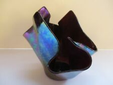 BEAUTIFULLY IRIDESCENT HANDKERCHIEF GLASS VASE ~ ONE OF FOUR PIECES AVAILABLE