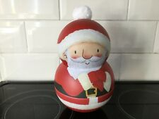 2 Novelty Christmas Themed Biscuit Tins - Empty - Wobbly Santa Snow Globe