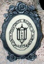 VINTAGE METAL PEWTER ? ROSE FRAME CROSS STITCH SCHOOL OF NURSING NURSE 1946