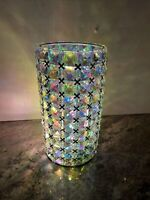 """9"""" Lighted Faceted Gem Hurricane Microlights Silver  Lighted Valerie Parr Hill"""