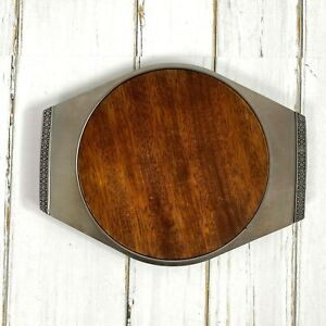 Vintage Cheese Snack Serving Tray 18/18 Stainless Steel Japan Removable Board