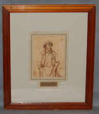 Paul Gavarni  French Pen & Ink Sketch Of A Man With Hands In Pocket