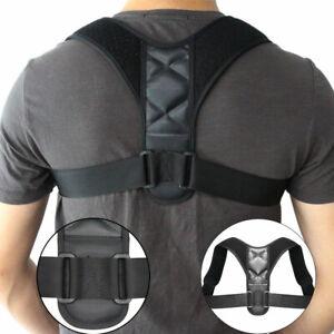 Adjustable Posture Corrector Back Support Body Brace Wellness Lumbar Shoulder UK