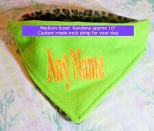 """Personalized reversible dog bandana - custom neck size - MEDIUM 10"""" -  FREE Post"""