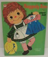 Vintage 1970 Whitman Raggedy Ann Paper Doll Book Uncut