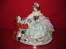 Scheibe Alsbach Figur Porzellan Kavalier Dame Barock Rokoko riesig Rose