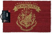 RED HOGWARTS CREST Harry Potter Door Mat WELCOME TO HOGWARTS GP85068