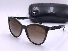 f80c6f4404 CHANEL CH5376-B c.1599 S9 BIJOU Polarized Sunglasses Brown Brown AUTHENTIC