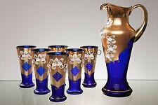 UNIQUE LUXURY BLUE SODA COCA COLA GLASS SET