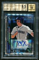 Tyler O'Neill 2016 Bowman Chrome 100 Refractor Auto RC /199 BGS 9.5 TRUE GEM