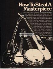 1976 ARIA PRO II Electric, Acoustic Guitar Mandolin Banjo Vtg Print Ad