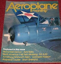 Aeroplane Monthly Magazine 1978 March F-82 Twin Mustang,F-3H Demon,Avro Baby
