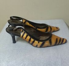 Liz CLaiborne  Bea Leather Women's Slingback Heel Animal Print  Shoes 8,5 M