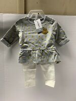 Carters 18M Sparkling Gold Polka Dot Owl Shirt And Sparkling Leggings NWT