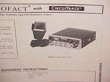 1975 PEARCE-SIMPSON CB RADIO SERVICE SHOP MANUAL MODEL BOBCAT 23C
