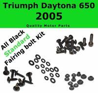 Stainless Black Fairing Bolt Kit body screws for Triumph Daytona 650 2005