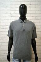 Polo Grigia Uomo TOMMY HILFIGER Taglia XL Herrenhemd Shirt Maglia Manica Corta