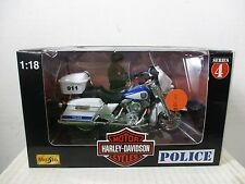 1/18 SCALE MAISTO HARLEY DAVIDSON POLICE MOTORCYCLE