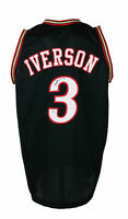 Allen Iverson Signed Custom Black Pro Style Basketball Jersey PSA/DNA