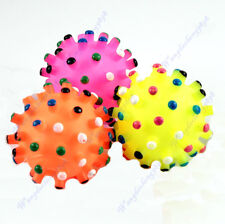 Hot Sale Lovely Pet Dog Puppy Cat Squeaker Squeaky Toy Sound Colorful Chews Ball