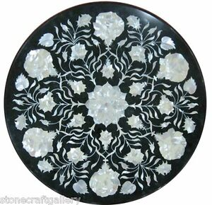 "18"" Marble Coffee Table Top Pietra Dura Inlay Work For Home Decor And Garden"