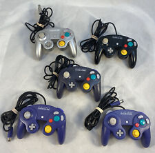Lot of 5 Nintendo GameCube Controller DOL-003 Tested OEM Tested Joystick Wear