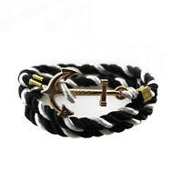 Bracelet Wristband Leather Men Handmade Women Bangle Rope Multilayer NEW