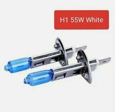 2x Lampadine Alogene H1 Effetto Xenon Super White Ultra White 55W 6000K Bianco