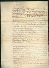 INDIA signed 1849 document - antique Calcutta Ramchunder Ghosaul Bacharam Ghose