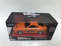 Brian's Toyota Supra Orange Fast & Furious Movie 1/32 Diecast Model Car by Jada