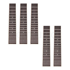 Ukulele Fretboard Fingerboard for 28 Inch 6 String Ukelele Parts 5 Pcs