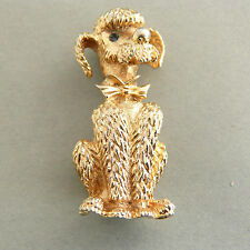 Vintage Poodle Dog Boucher Brooch Pin