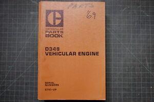 CAT Caterpillar D348 Engine Parts Book Manual Catalog truck 1969 spare list shop