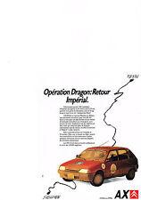PUBLICITE ADVERTISING   1988   CITROEN  AX     SHENZEN PEKIN  opération Dragon