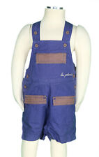 JACADI Boy's Trepestio Midnight Blue and Mocha Overalls Size 6 Months NWT $42