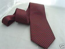 "(013) de seda-red/burgundy Tiny Diamantes shapes-mens necktie-ties -3.5 "" = 9 Cm Ancho"