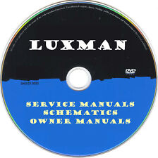 Luxman Service Manuals & Schematics- PDFs on DVD - Huge Collection Latest