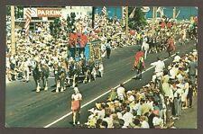 postcard...PARADE, OLD MILWAUKEE DAYS,  MILWAUKEE, WI