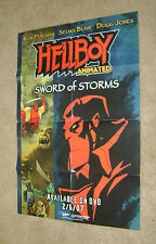 Hellboy Animated Sword of Storms Promotional Poster 2004 Folded 24 x 36 Starz