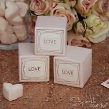 ROSE GOLD / PINK FAVOUR BOXES x10 - Modern Wedding -FULL GEO BLUSH RANGE IN SHOP