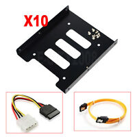 "10pcs 2.5"" to 3.5"" Bay SSD Metal Hard Drive HDD Mounting Bracket Adapter Tray"