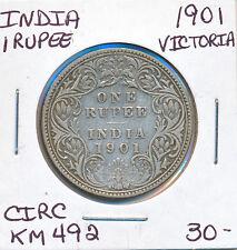 INDIA RUPEE 1901 VICTORIA KM492 - CIRC