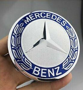 Mercedes Benz Alloy Wheel Centre Cap 75mm Badge BLUE Hub Emblem-Fits All