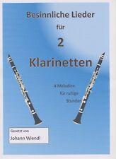 Noten für 2 Klarinetten (Duette) Besinnliche Lieder von Johann Wiendl