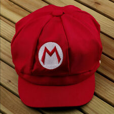 Chic Super Mario Bros Cosplay Adult Size Hat Cap Baseball Costume Red Color_hc