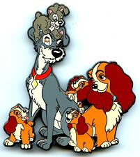 Disney Fantasy Pin - Lady & The Tramp with Puppies Jumbo (LE 50)