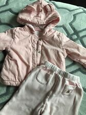 Baby GAP Girl 0-3 Month Reversible Pants And Pink Teddy Jacket
